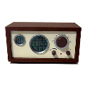 Small wood frame calendar radio(with plastic wire antena)